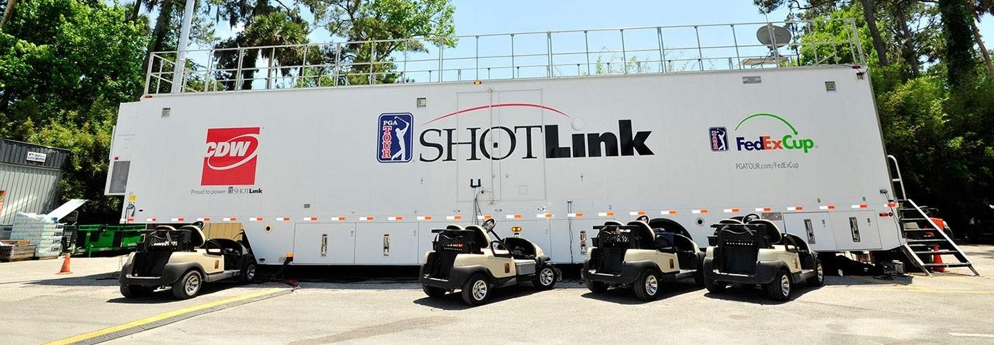 The PGA Tour has two ShotLink tour trucks that provide part of the infrastructure necessary to collect and analyse player data during competition.