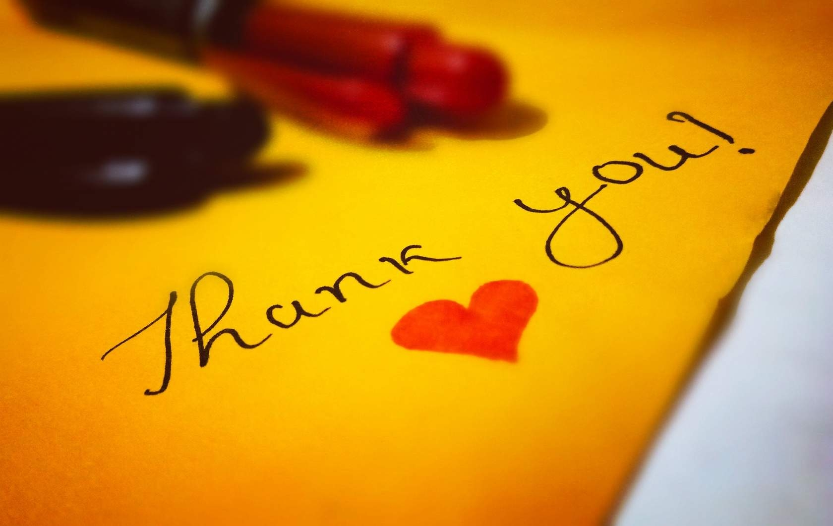 A handwritten note or customized email thanking your volunteers and supporters for their efforts